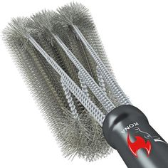 360° CLEAN GRILL BRUSH By Kona(TM) – 18″ Best BBQ Grill Brush#360° CLEAN GRILL…