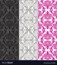 Vintage wallpaper - seamless tile multi color versions. Download a Free Preview or High Quality Adobe Illustrator Ai, EPS, PDF and High Resolution JPEG versions.