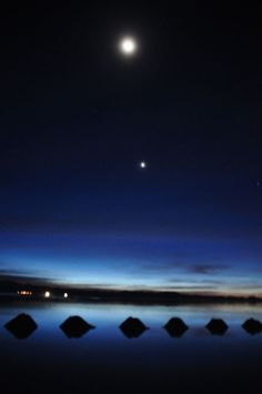 Night view, Salar de Uyuni in Bolivia