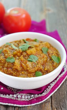 instant pot baingan bharta by ashley of myheartbeets.com