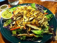 Best salad ever from Dos Coyotes! Love Dos! Nachos, Tacos, Salads...they are all the bomb....also the fresh salsa bar with escabeche. The bomb!