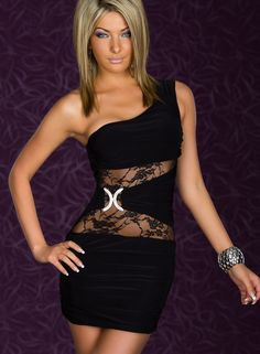 Sexy-One-shoulder-Black-Mini-Dress-With-Lace-Inserts-LC2565-2.jpg