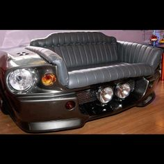 1967 Eleanor Mustang front end couch!!! So love this!!!