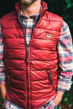 6ccd6669434 Grayson Vest Brick Red Puffy Vest Outfit