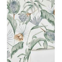 Moroccan Wallpaper Mural by Sarah Sherman Samuel Moroccan Wallpaper, Tropical Wallpaper, Wallpaper Decor, Home Wallpaper, Line Artwork, Types Of Printing, French Art, Interiores Design, Decoration