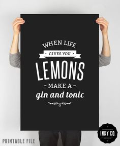 Items similar to Graphic Design poster, Lemon print, Printable File, Vintage Retro Quote Art, Cooking print on Etsy.