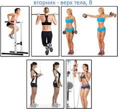 Программа тренировок для девушек, верх тела В