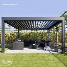 Timber Pergola Moderne - Pergola Designs Bamboo - - - Aluminum Pergola Attached To House Aluminum Pergola, Metal Pergola, Pergola With Roof, Backyard Pergola, Pergola Shade, Patio Roof, Backyard Landscaping, Metal Roof, Garden Gazebo