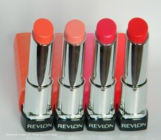 New Revlon Lip Butter Shades in Juicy Papaya, Pink Lemonade, Sorbet, & Wild Watermelon! Juicy Papaya & Wild Watermelon have just been added to my lip butter collection :)