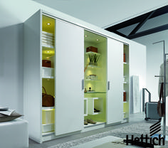 Use Hettich products to create the perfect customised wardrobe. Click on the link to be inspired.