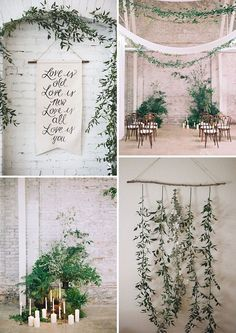 Gorgeous Greenery & Herb Wedding Decoration Ideas | See more on…