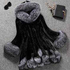 faux fur coat women white gray with fur hat fur jacket mink luxury women long coat Imitation fur jacket women coat plus size 6XL-in Faux Fur from Women's Clothing & Accessories on Aliexpress.com   Alibaba Group