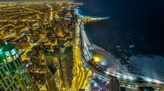 Chicago: A famous view of Lake Shore Drive from the John Hancock Observatory deck. It's the north side view ♦ by Steven Suwatanapongched on 500px