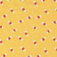 HALF YARD Yuwa Fabric Petite Bows and Flowers on by fabricsupply