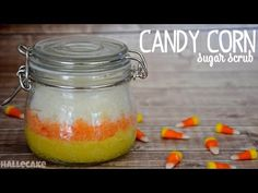 How To Make Candy Corn Sugar Scrub. I am so making this on Halloween!