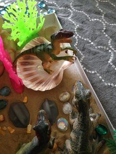 Rebel Raptor taking a bath at Dinosaur Cove