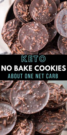 Chicken Parmesan Recipe Discover Keto No Bake Cookies - Maebells These fudgy Keto No Bake Cookies will remind you of classic no bake chocolate cookies without all the carbs! At just one net carb per cookie these sweet treats wont break your keto diet! Keto Cookies, No Bake Cookies, Coconut Cookies, Coconut Macaroons, Keto Friendly Desserts, Low Carb Desserts, Dessert Recipes, Dessert Healthy, Diabetic Friendly
