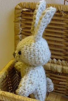 Rabbit - Free Amigurumi Pattern here: http://web.archive.org/web/20070717040304/http:/jilly-flowers.blogspot.com/2007/01/free-amigurumi-pattern.html