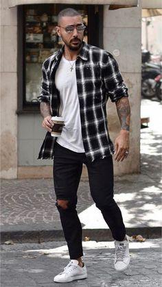 Source by hoffmannfelix flannel outfits summer Summer Outfits Men, Stylish Mens Outfits, Men Summer Fashion, Indie Fashion Men, Hipster Outfits Men, Black Men Winter Fashion, Men's Casual Outfits, Street Fashion Men, Male Urban Fashion