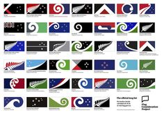 New Zealand has announced a list of 40 designs for a new flag, which could replace its existing graphic featuring the Union Jack New Zealand Flag, Best Flags, Herald News, Flag Art, Kiwiana, Confederate Flag, Alternate History, National Flag, National Museum