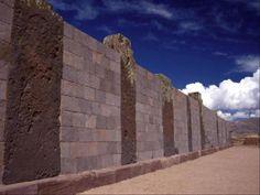 The walls of Tiahuanaco
