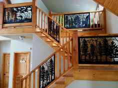 Product Photo Gallery | Series of Stair Railing Panel Inserts