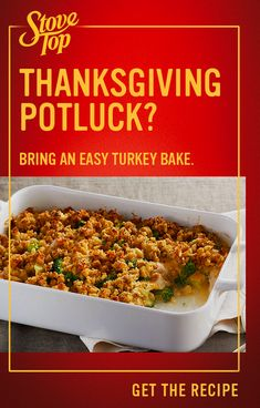 If it's not STOVE TOP, it's not Thanksgiving. Make this holiday dinner staple to bring to any party. It's ready in just 5 minutes, so you can spend more time with family, and less time in the kitchen. Stuffing Recipes, Turkey Recipes, Fall Recipes, New Recipes, Holiday Recipes, Casserole Recipes, Chicken Recipes, Cooking Recipes, Favorite Recipes