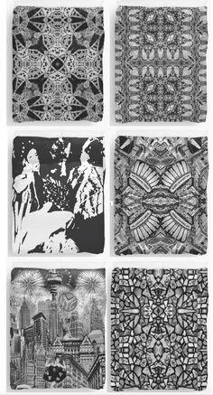 #blackandwhite Design Duvetcover #duvet cover #designer #mosaic #homedecor #bedroom #nyc  #boho #geometric www.redbubble.com/people/claudiagill/shop