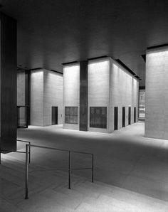 Elevator lobby by Ludwig Mies van der Rohe.