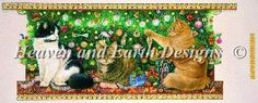 Angel Blossom and Dandelion in a Christmas Tree [IVORY41282] - $19.00USD : Heaven And Earth Designs, cross stitch, cross stitch patterns, counted cross stitch, christmas stockings, counted cross stitch chart, counted cross stitch designs, cross stitching, patterns, cross stitch art, cross stitch books, how to cross stitch, cross stitch needlework, cross stitch websites, cross stitch crafts