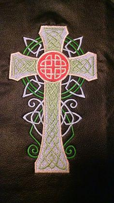 Celtic Cross on black vinyl