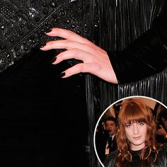 It was black on black for Florence Welch #nails #MetGala