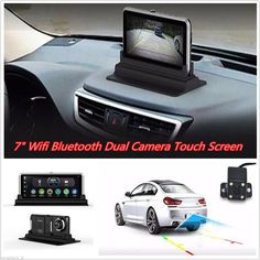 """cool Amazing WIFI HD 1080P 7"""" Android Car Dual Camera Rear View DVR Recorder+ GPS Navigator  2017/2018 Check more at http://24carshop.com/product/amazing-wifi-hd-1080p-7-android-car-dual-camera-rear-view-dvr-recorder-gps-navigator-20172018/"""