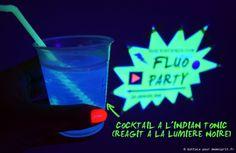 Soirée d'anniversaire fluo party cocktails