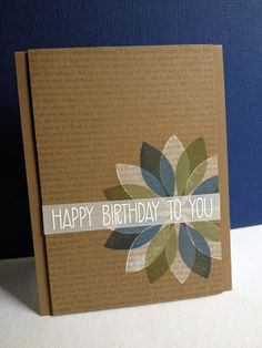 Im in Haven: A TOTAL Jennifer McGuire Case! navy, cup o joe, white, drk green on kraft Handmade Birthday Cards, Greeting Cards Handmade, Jennifer Mcguire, Beautiful Handmade Cards, Flower Cards, Flower Stamp, Cool Cards, Cards Diy, Heart Cards