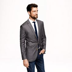 Ludlow club sportcoat with double vent in Italian wool from J. Crew.