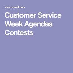 Customer Service Week Agendas Contests