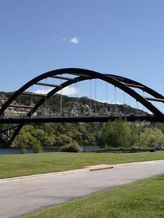 Loop 360 Bridge the first week of Spring 2012. Austin