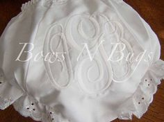 Monogrammed Initials Diaper Cover Bloomers for Girls  by bowsnbugs, $12.00