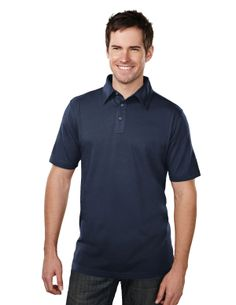 Men's Jersey Polo With Side Vents (60% Cotton/40% Polyester) Tri mountain 185 #Jersey #casual #polo