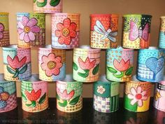 Latas - Hobbies paining body for kids and adult Aluminum Can Crafts, Tin Can Crafts, New Crafts, Paper Crafts, Aluminum Cans, Sell Diy, Diy Crafts To Sell, Coffee Can Crafts, Easy Crafts For Teens