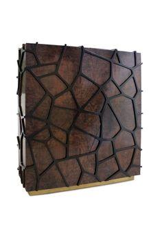 ORION mid-century modern cabinet by BRABBU | www.bocadolobo.com #bocadolobo #luxuryfurniture #exclusivedesign #interiodesign #designideas #partnerbrand  #furniture #luxuryfurniture #brabbu