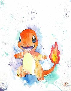 Charmander - Pokemon By: Joseph Kennedy - JK iMAGES prints available >> https://www.etsy.com/listing/214868311/charmander-pokemon