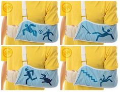 Do they make these with a truck hitting a pedestrian!? @Naomi Heilmann  Self-explanatory broken arm slings