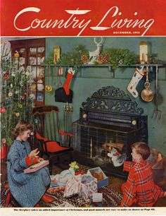 Country Living Magazine Pinner says: So, what if she has a million old magazines stored away. I love when I come to visit and pick up one to read, and realize it's from 1980 something :) Vintage Christmas Photos, Retro Christmas, Christmas Love, Vintage Holiday, Country Christmas, Christmas Pictures, All Things Christmas, Winter Christmas, Xmas