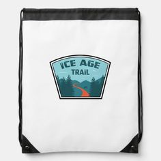 Ice Age Trail Drawstring Bag outdoors christmas gifts, crafts while camping, camping valentines #dishscrubby #camperlife #cotton, back to school, aesthetic wallpaper, y2k fashion Black Rope, Back To Black, Camping Attire, Wonderland Trail, Hiking Essentials, Backpack Essentials, Hiking Quotes, John Muir Trail, Hiking Tips