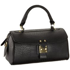 Croc-Embossed Satchel - In love with this clean design and the CROC!