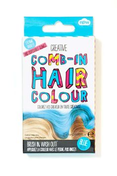 NPW Comb-In Hair Colour - Blue