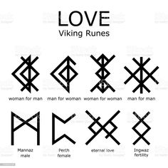Viking Rune Tattoo, Norse Tattoo, Viking Tattoos, Inca Tattoo, Magic Symbols, Ancient Symbols, Viking Symbols And Meanings, Symbols Of Love, Norse Runes Meanings