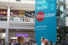 Our unmissable Panoramic format was used at the Metrocentre to promote the smoke free Stoptober campaign! #OOH #malladvertising #panoramic #stoptober #unmissable